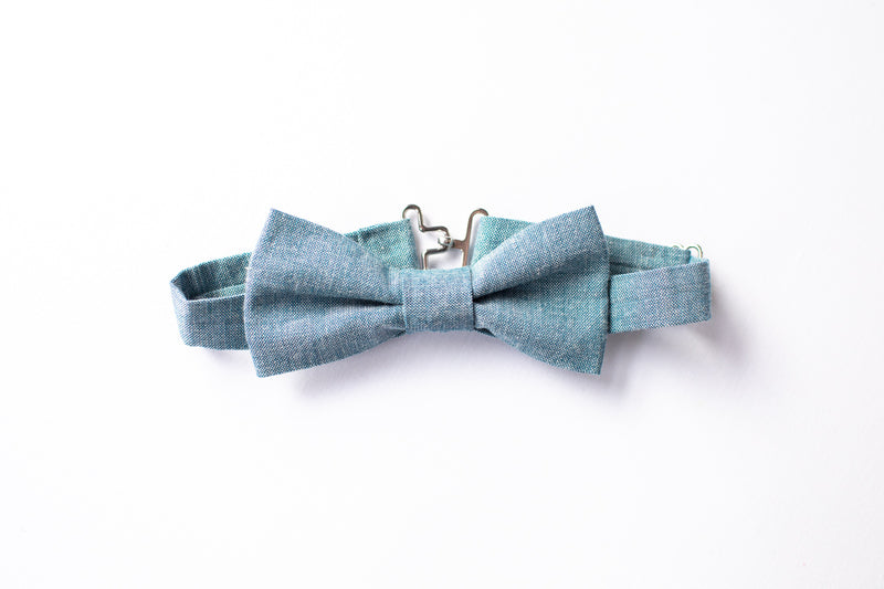 Stars and Dandelions Bow Tie, Chambray