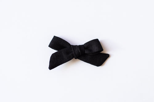 Stars and Dandelions Nora Medium Bow, Black