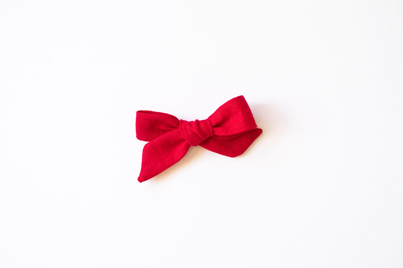 Stars and Dandelions Josie Small/Pig Tail Bow, Red