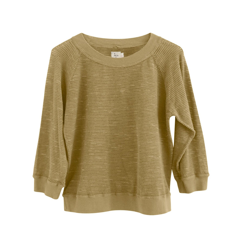 Abby Mesh Pullover, Honey