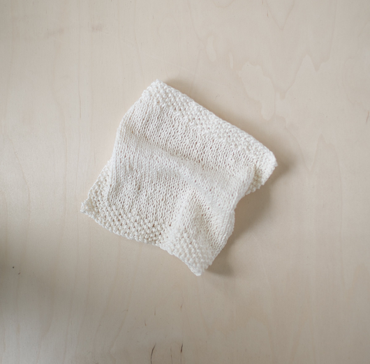 Hand Knit Hemp Wash Cloth