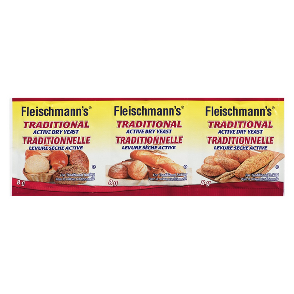 Fleischmanns - Traditional Yeast Envelopes - 20/3x8g - Item # 06004
