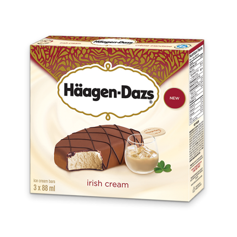 Haagen-Dazs - Bar - Irish Cream - 12/3X88ML - Item# 12280963