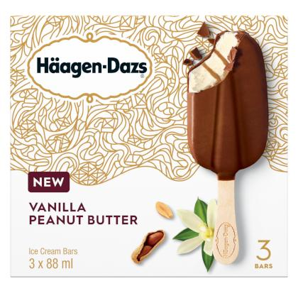 Haagen-Dazs - Bar - Vanilla Peanut Butter - 12/3/88ml - Item# 12321942