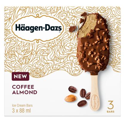 Haagen-Dazs - Bar - Coffee Almond - 12/3/88ml - Item# 12321944