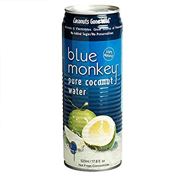 Blue Monkey - Pure Coconut Water - 24/520ml - Item# 22644