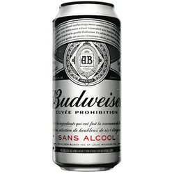 Budweiser - Prohibition Non-Alcoholic Beer Can - 24/473ml - Item# 24035