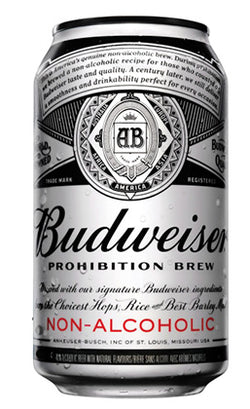 Budweiser - Prohibition Non-Alcoholic Beer Can - 4/6x355ml - Item# 24043