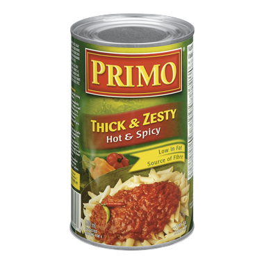 Primo - Thick & Zesty Pasta Sauce Hot & Spicy - 12/680ml - Item# 31451