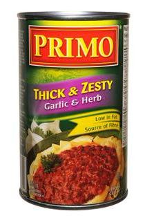 Primo - Thick & Zesty Pasta Sauce Garlic & Herb - 12/680ml - Item# 31475
