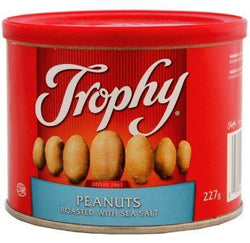 Trophy - Blanched Peanuts Roasted and Shelled - 12/227g - Item # 70578