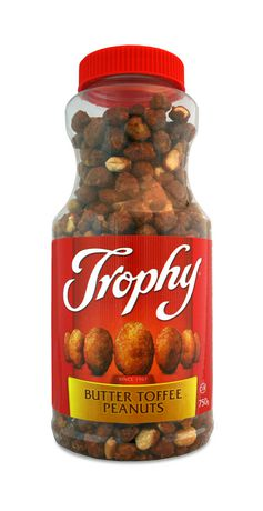 Trophy - Butter Toffee Peanuts – Large Jar - 12/750g - Item # 73294