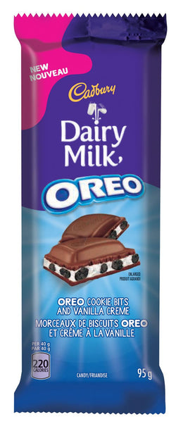 Cadbury Dairy Oreo Chocolate Bar - 12/95g - Item # 74550