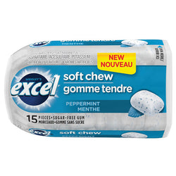 Excel - Soft Chew Gum Peppermint - 8/15pc - Item # 74894