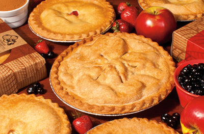 "Apple Valley Foods - Baked Apple Pie 8"" - 6/620g - Item # 98154"