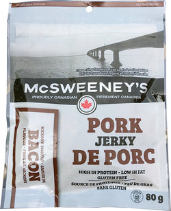 McSweeneys - Pork Jerky - Bacon - 80g Bag - Item# 999020