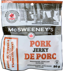 McSweeneys - Pork Jerky - Canadian Maple - 80g Bag - Item# 999021