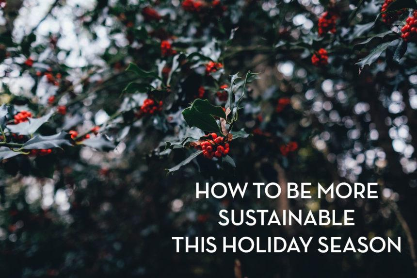 How to Be More Sustainable this Holiday Season