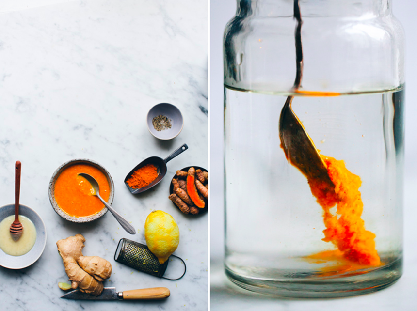 Try this turmeric tea DIY from The Lifestyle Edit