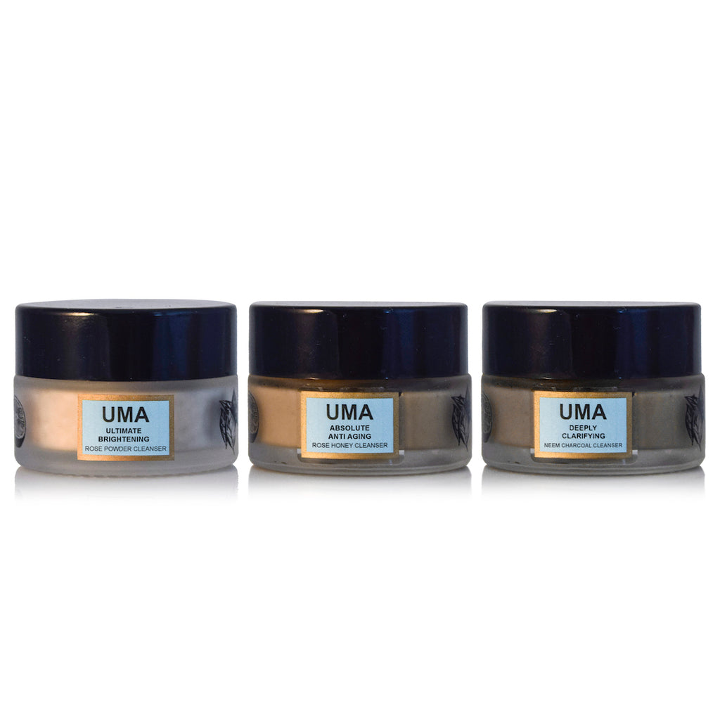 UMA Poreless Perfection: Ayurvedic Cleanse & Exfoliate Kit - Uma Oils