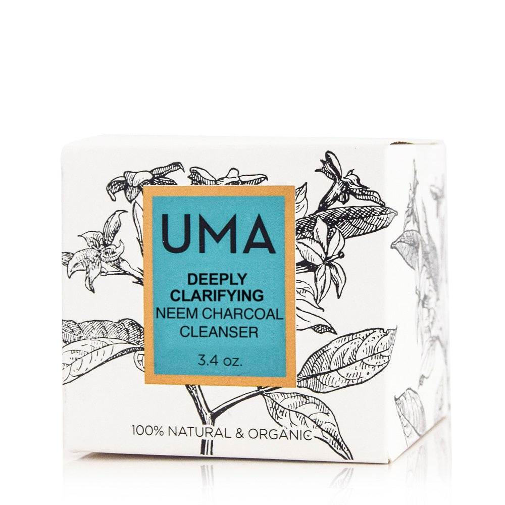 Deeply Clarifying Neem Charcoal Cleanser - Uma Oils