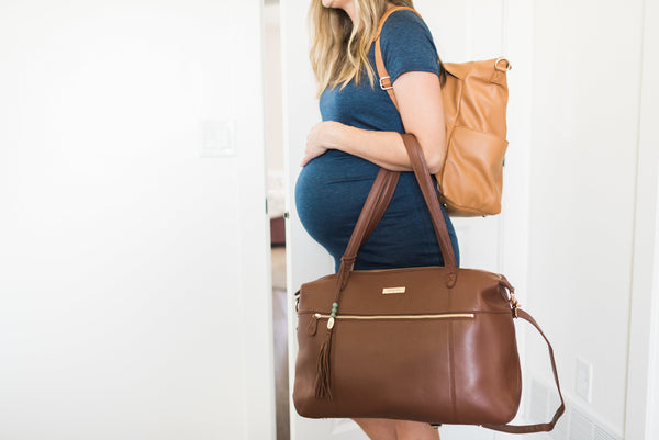 hospital packing list, labor and delivery, motherhood, backpack   diaper bag, leather diaper bag