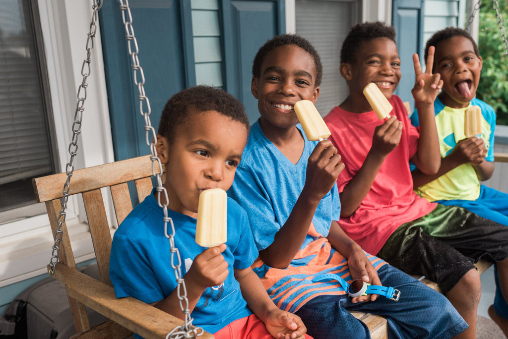 Family, recipes with kids, home chef, homemade Popsicle,