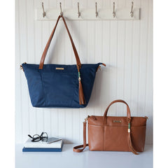 Outlet Lorie Navy Nylon - Camel & Gold