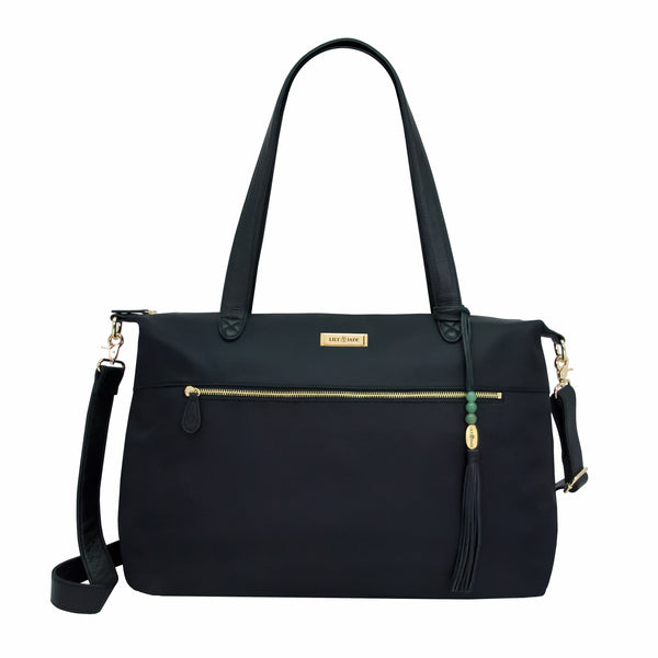 fd07e81e4e89 Sale. Jennifer Tote - Black Nylon & Gold