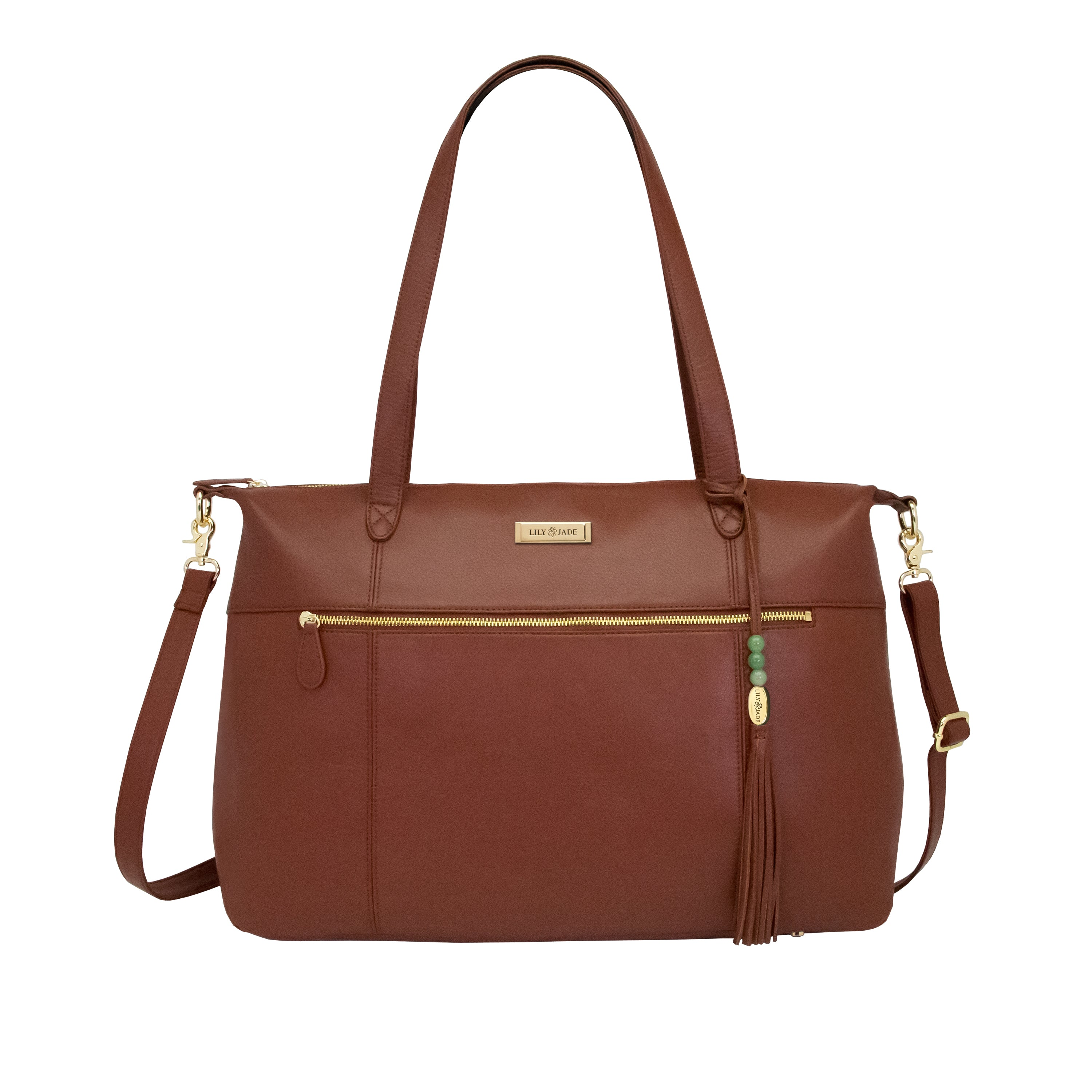 Outlet Jennifer Tote - Brandy & Gold