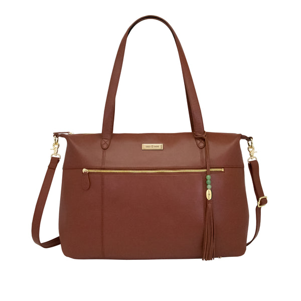 Jennifer Tote - Brandy & Gold