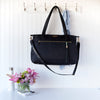 Jennifer Tote - Black Nylon & Gold