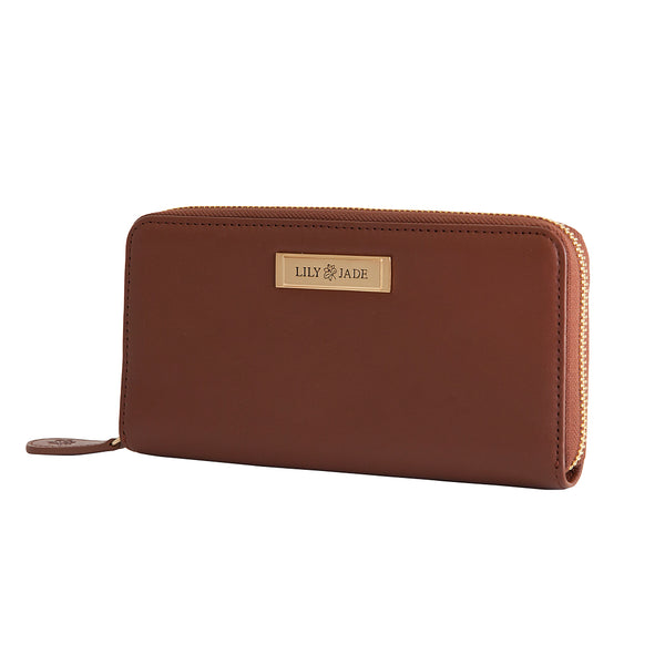 Amber Wallet - Brandy & Gold