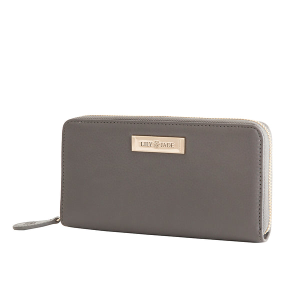Amber Wallet - Grey & Gold