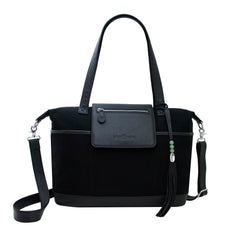 Outlet Madeline Black Canvas & Silver