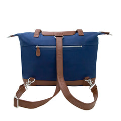 Outlet Madeline Navy Canvas & Silver