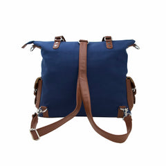 Meggan Navy Canvas & Silver