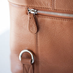 Shaylee - Magnetic Pockets - Camel & Silver