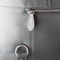 Outlet Shaylee Zippered Pockets Grey & Silver
