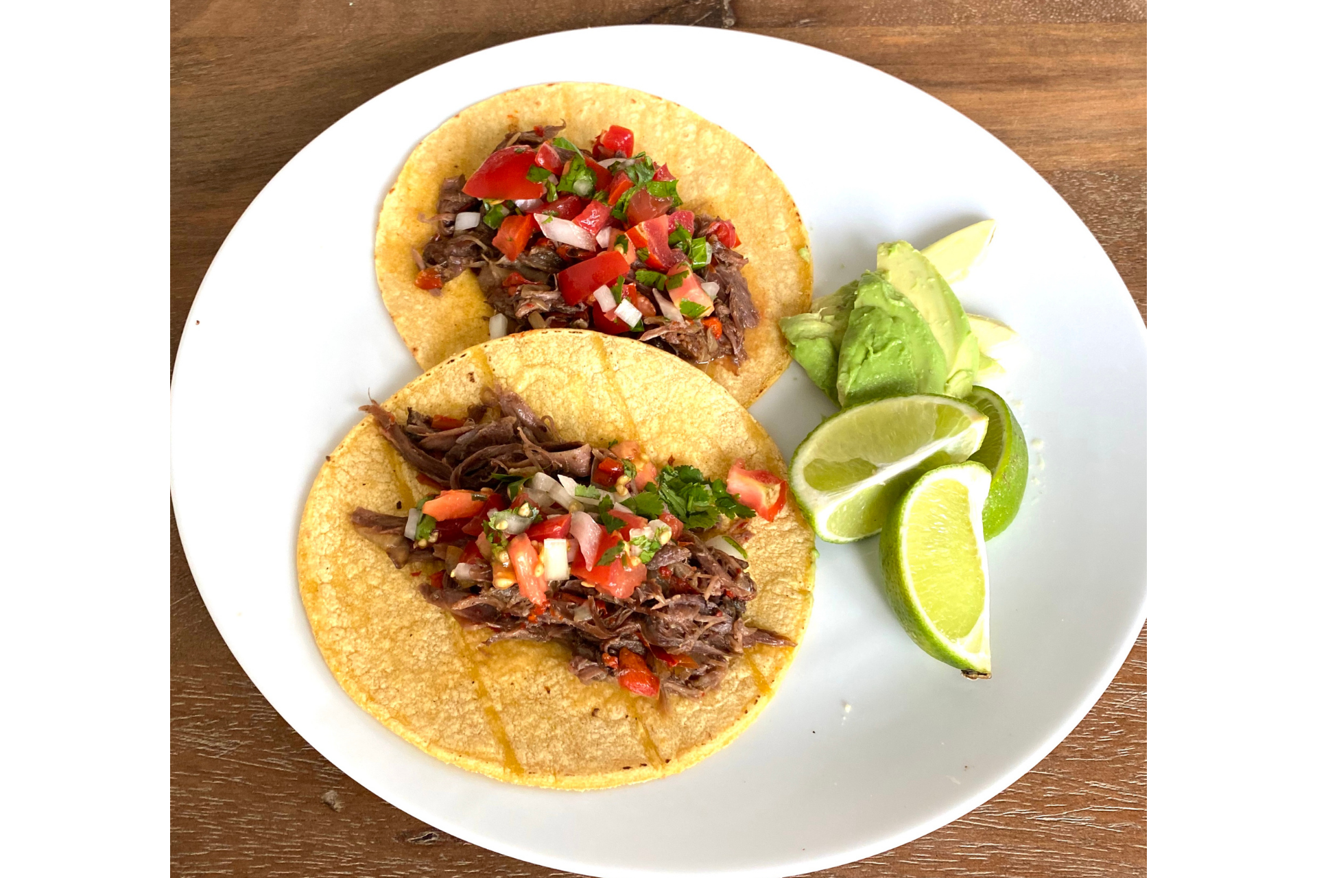Shredded ostrich neck tacos