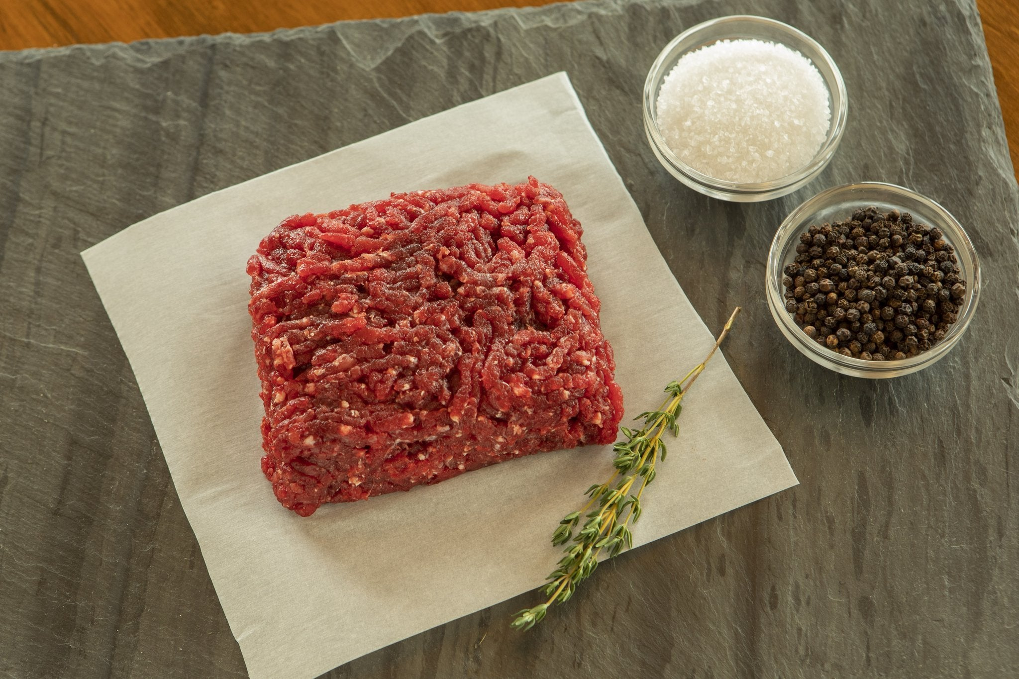 Raw ground ostrich meat