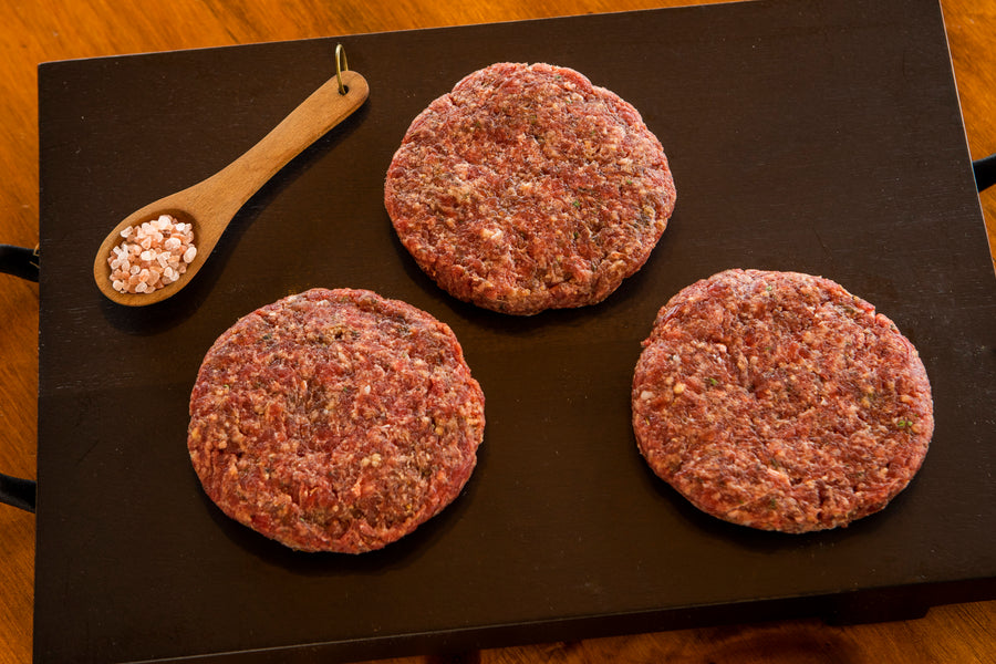 Gourmet Ostrich Steak Burgers