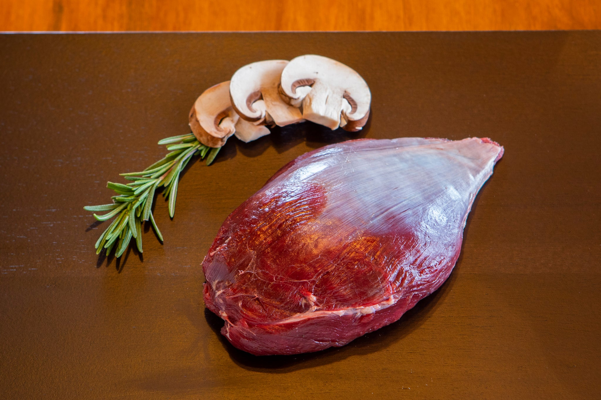 raw ostrich pearl filet