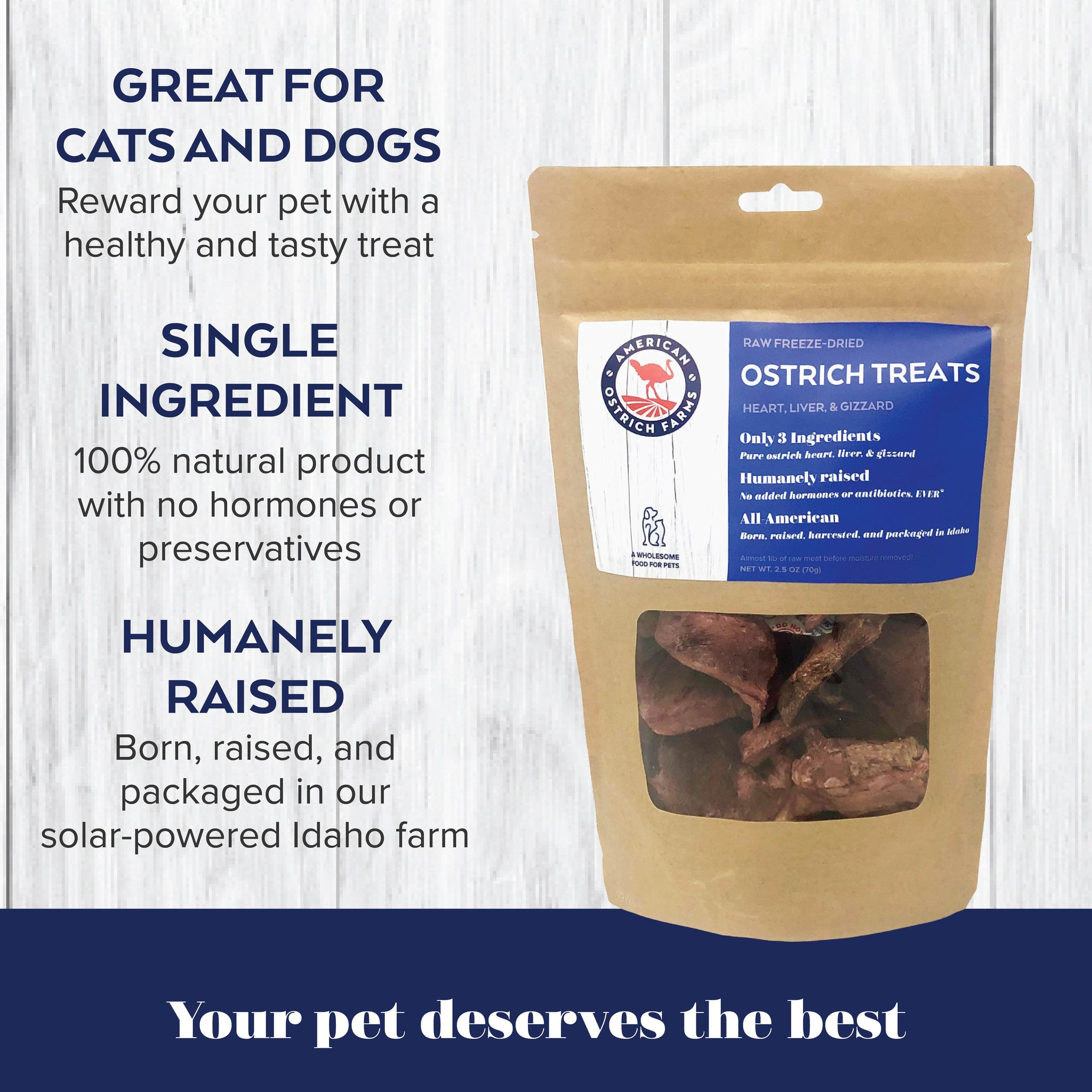 benefits of raw freeze dried ostrich treats