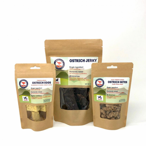 Ostrich pet foods sample pack small