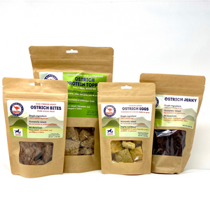 Ostrich pet foods sample pack large