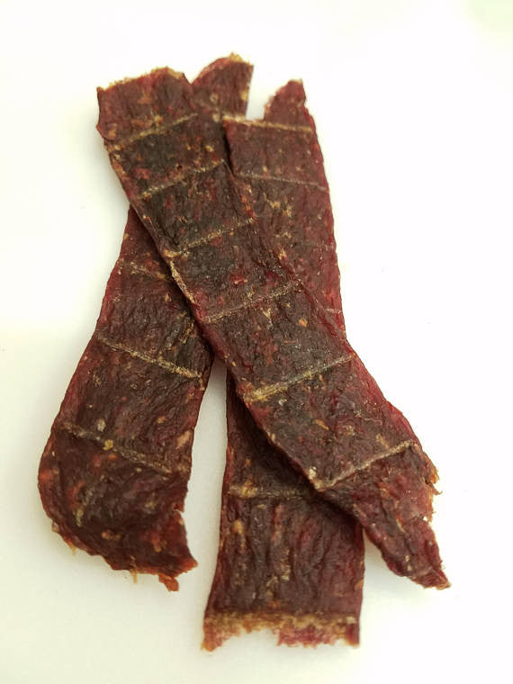 3 pieces of ostrich jerky