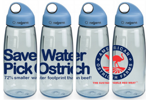 4 American Ostrich Farms Nalgene water bottles