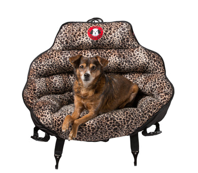 Leopard With Black Trim Original PupSaver (For All Dogs Up To 30 lbs)