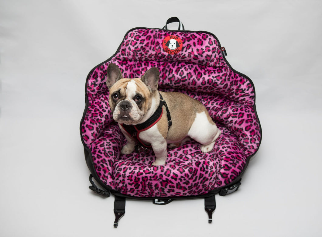PupSaver Pink Leopard (Best For Dogs 10-30 lbs)